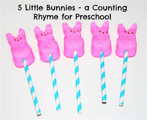 easter songs counting rhymes finger plays and books for 151 | 5 Little Bunnies Counting Rhyme for Preschool 1024x835