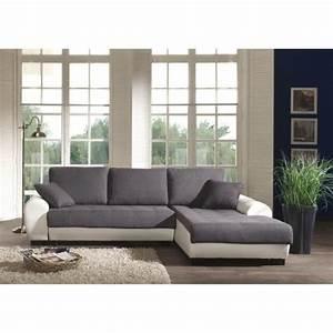 Canape C Discount : photos canap gris et blanc cdiscount ~ Teatrodelosmanantiales.com Idées de Décoration