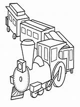 Coloring Pages Train Trains Transportation Printable sketch template