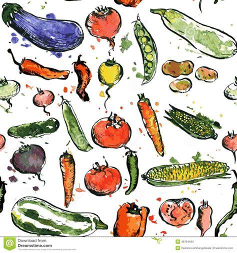 cuisine macrobiotique modèle sans couture avec des légumes de dessin illustration de vecteur image 49794494