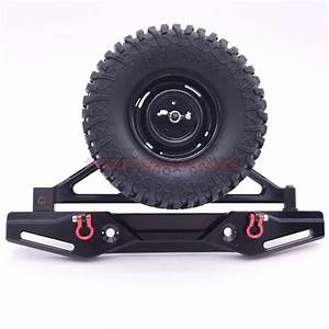 1  10 Scale Axial Scx10 Aluminum Cnc Rear Bumper With Spare