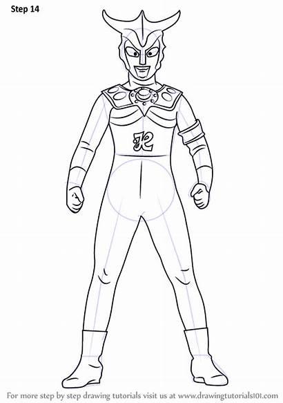 Ultraman Leo Draw Step Coloring Drawing Mewarnai
