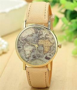 Armbanduhr Mit Weltkarte : weltkarte leder uhren damen armbanduhr von sexy sugar auf uhren armbanduhr ~ Orissabook.com Haus und Dekorationen