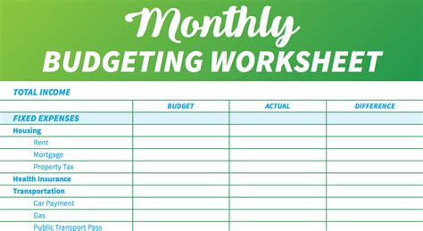 14 Easy-to-use Free Budget Templates