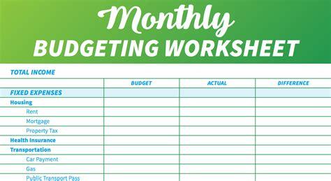 budget templates  spreadsheets gobankingrates