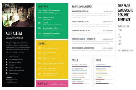 18504 free cool resume templates landscape resume cv template resume templates