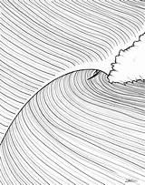 Drawing Surf Tunnel Vision Illustration Line Wave Surfing Surfboard Jonasclaesson Getdrawings Waves Illustrations Drawings Salvo Artwork sketch template