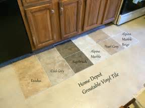 looking for kitchen flooring ideas found groutable vinyl tile at home depot they only had two
