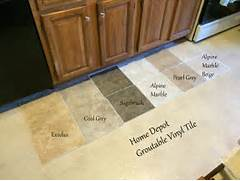 Kitchen Flooring Ideas Vinyl by Looking For Kitchen Flooring Ideas Found Groutable Vinyl Tile At Home Depot