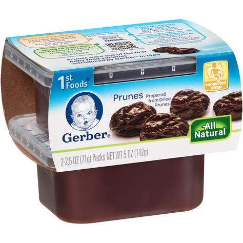 cuisine prune gerber 1st foods baby foods prunes pack of 3 walmart com