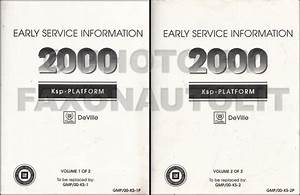 2000 Cadillac Deville Repair Shop Manual Original 3 Volume Set