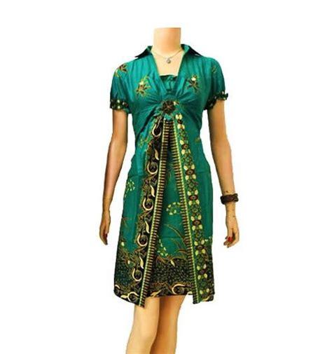 dress batik modern warna hijau modern batik sekar