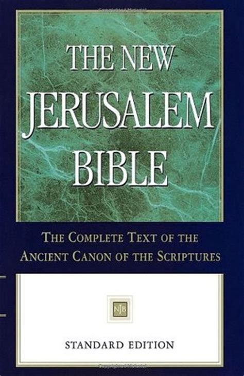 jerusalem bible  anonymous reviews discussion