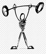 Weightlifter Coloring Clipart Drawing Pinclipart sketch template