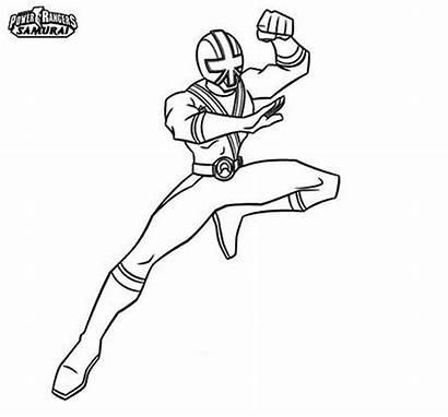 Rangers Ranger Power Coloring Samurai Pages Drawing