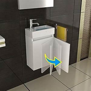 Waschbecken Und Unterschrank : waschbecken und unterschrank badezimmer set unterschrank mit soft close farbe weiss ~ Frokenaadalensverden.com Haus und Dekorationen