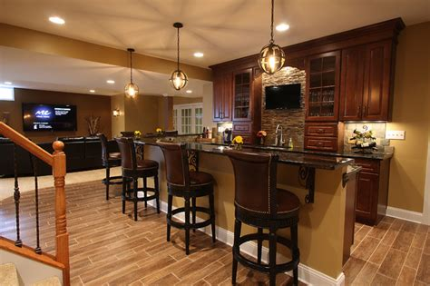 kitchen design bar basement bar traditional basement dc metro by 1100