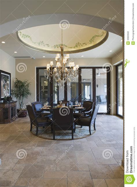 circular dining table stock photography image 33903502