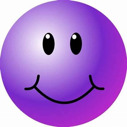 Smiley Face Purple Clip Faces Clipart Happy
