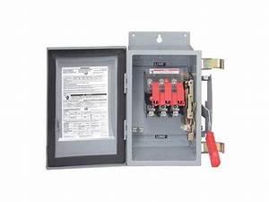Siemens 30 Amp 600vac  Dc Single Throw Solar Disconnect Switch 3p  Hf361pv