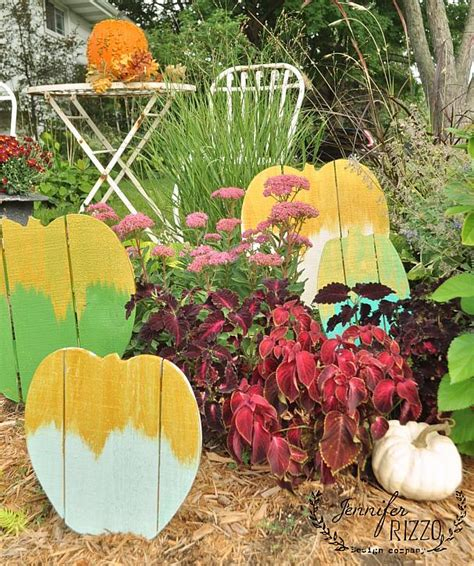 decoart blog crafts gold frosted wood pallet pumpkin patch