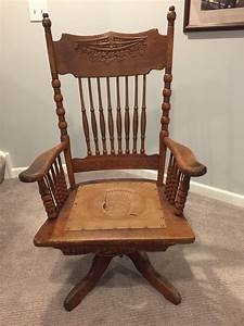 Oak, Swivel, Rocker, Antique, Can, Anyone, Give, Me, Some, Insight, On, History
