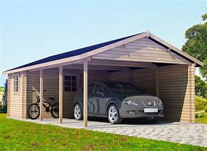 Garage Und Carport Kombination : extra large wooden carport emma with tool shed 30m 44mm 4 3 x 7 7 m summer house 24 ~ Sanjose-hotels-ca.com Haus und Dekorationen