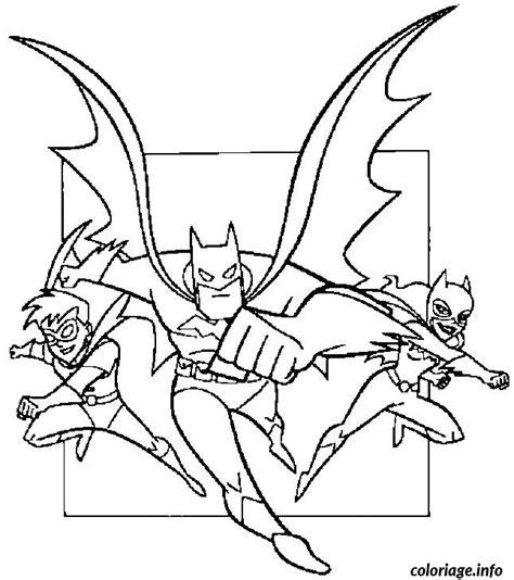 coloriage robin batman batgirl dessin