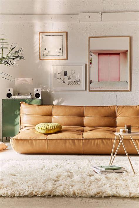 greta recycled leather xl sleeper sofa uohome home