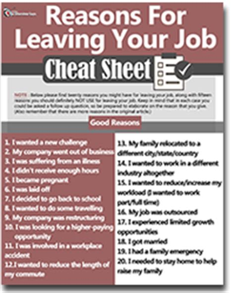 Reasons For Leaving Current On Resume by 10 Reasons For Leaving A