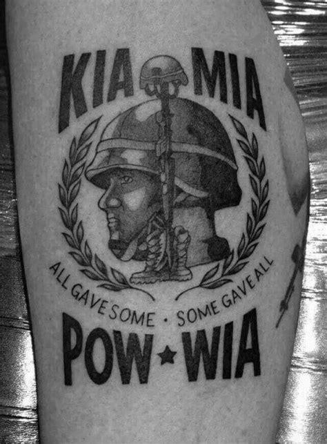 30 POW MIA Tattoo Designs For Men - Veteran Ink Ideas