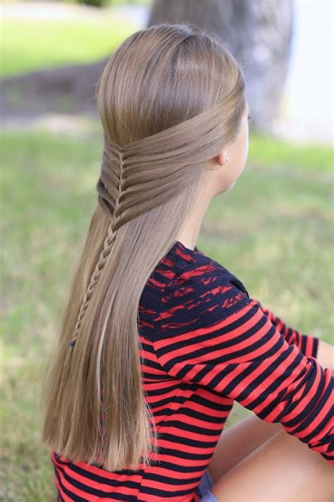 mermaid half braid hairstyles for long hair cute girls