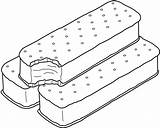 Ice Coloring Cream Pages Sandwich Printable Bestcoloringpagesforkids sketch template