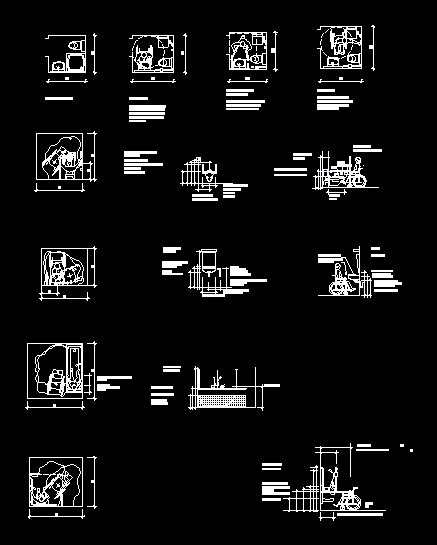 toilets  disabled  dwg plan  autocad designs cad