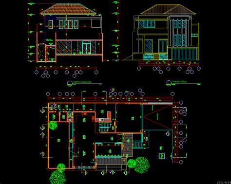 gambar desain rumah  autocad griya rumah