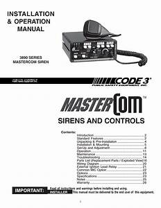 Code 3 Mastercom B Series User Manual