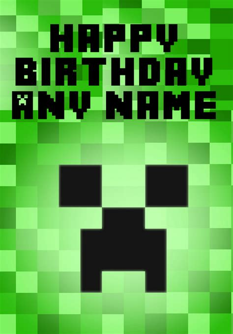 minecraftcreeperbirthdaycardprintable minecraft