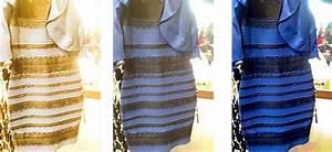 pourquoi tout le monde ne voit pas cette robe de la meme With robe bleu et noir illusion