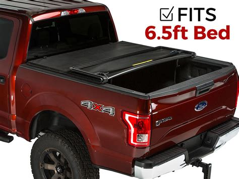 8613 folding truck bed covers gator tri fold tonneau cover fits ford f 150 2015 2017 6 5