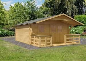 Gartenhaus Mit Vordach : karibu gartenhaus travem nde 2 bxt 400x400 cm mit ~ Articles-book.com Haus und Dekorationen