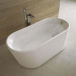 Reducteur De Baignoire Pas Cher : baignoire ilot ovale 162x72 cm petite dimension ~ Dailycaller-alerts.com Idées de Décoration