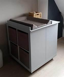 Meuble A Langer : un meuble langer avec du rangement ~ Teatrodelosmanantiales.com Idées de Décoration