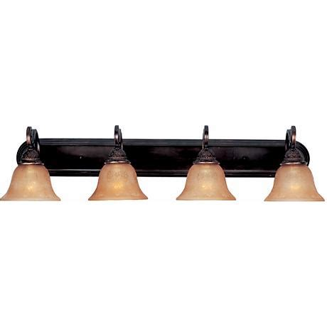 Rubbed Bronze Bathroom Fixtures by Symphony Rubbed Bronze Four Light Bathroom Fixture