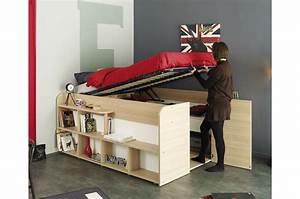Chambre Gain De Place : lit multifonctions gain de place roxy cbc meubles ~ Farleysfitness.com Idées de Décoration