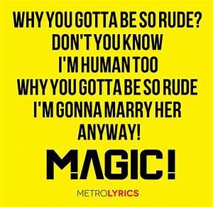 #Magic #Rude #Lyrics http://www.metrolyrics.com/rude ...