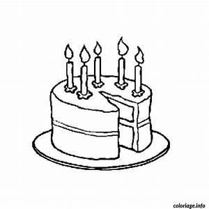Dessin Gateau Anniversaire : coloriage gateau anniversaire 5 ans dessin ~ Melissatoandfro.com Idées de Décoration