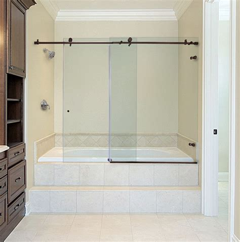 Bathtub Doors Rubbed Bronze by Frameless Sliding Shower Door Rubbed Bronze Frameless