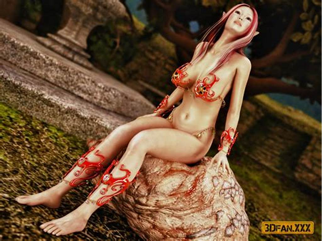 #Gorgeous #Elf #Sucks #Fleshy #Monster'S #Cock