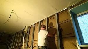 Poser Placo Mur Avec Rail : comment mettre la laine en contre cloison placo youtube ~ Melissatoandfro.com Idées de Décoration