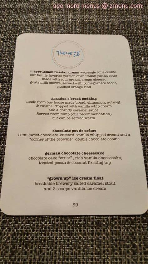 menu  twelve  kitchen restaurant penn valley